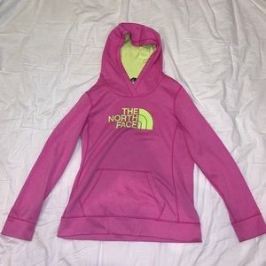 Neon North Face Hoodie